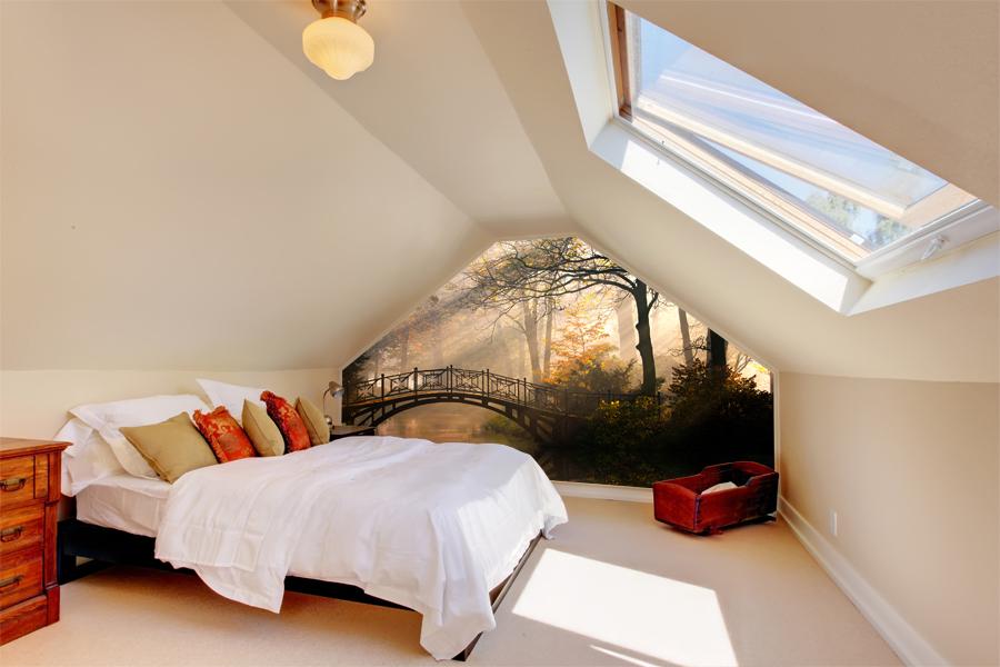 Sypialnia z widokiem na park